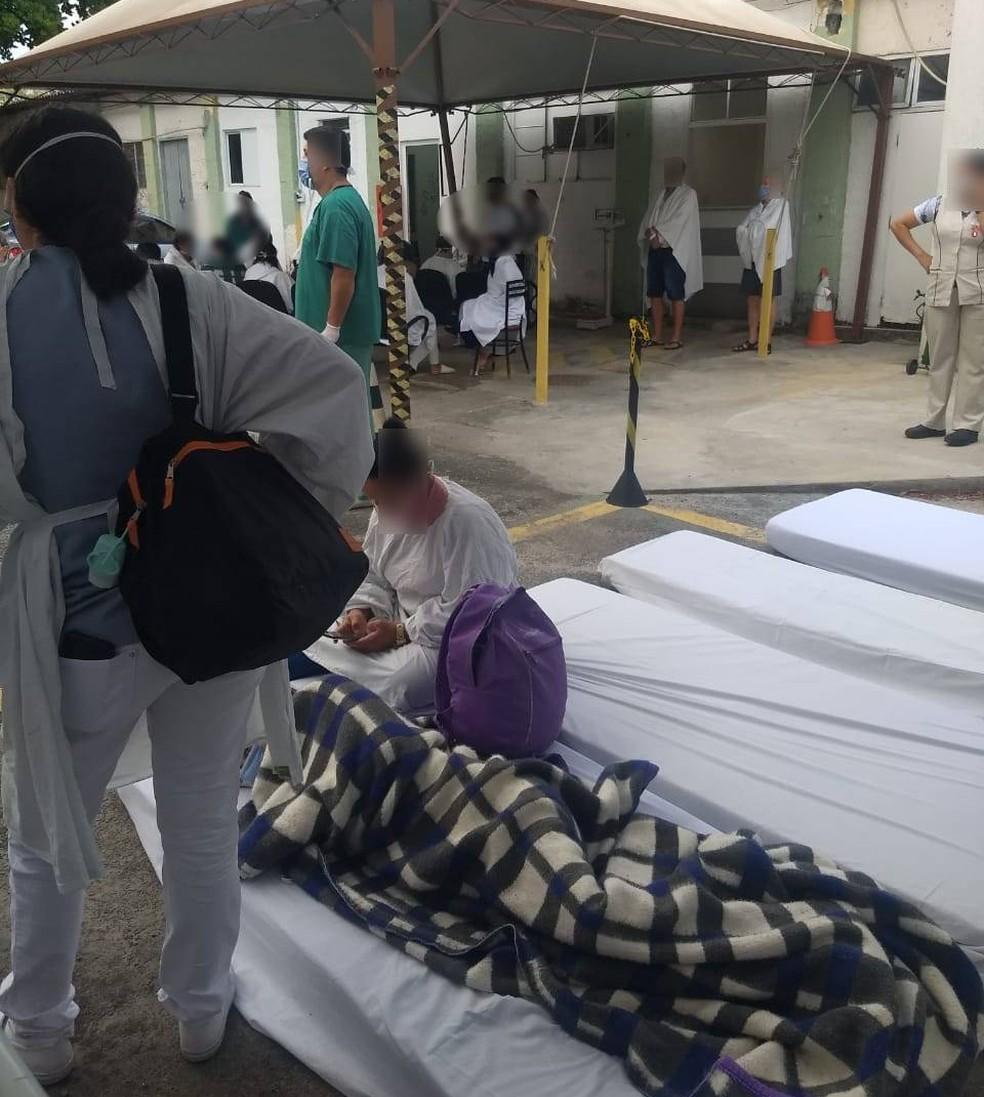 Incidente em caldeira assusta pacientes e mobiliza bombeiros no Hospital Regional de Taubaté — Foto: Arquivo Pessoal