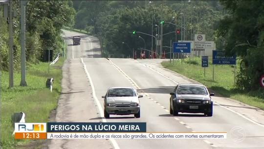 Número de mortes na Rodovia Lúcio Meira triplica no Sul do Rio