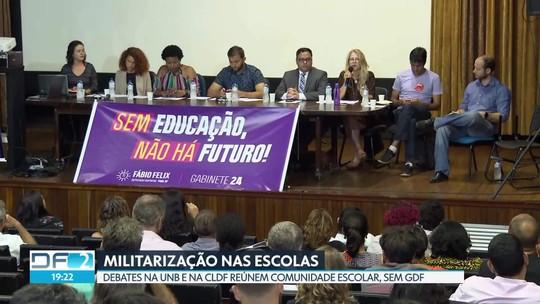 Debates reúnem comunidade escolar para debater militarização nas escolas