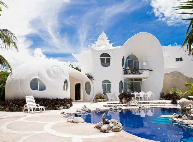 Casa concha do mar, Isla Mujeres, México (Foto: Airbnb/ Reprodução)