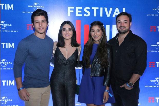 Rick Tavares, Marcela Barroso, Bruno Moraes e Juliana Xavier (Foto: Daniel Pinheiro/AgNews)