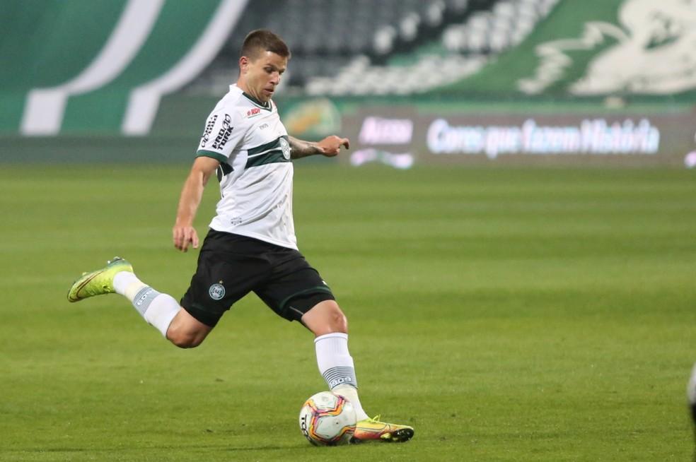 Matheus Galdezani defendeu o Coritiba em 38 partidas na última temporada — Foto: Divulgação/Coritiba