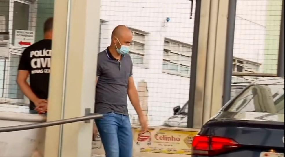Vereador Carlos Henrique de Paula Tomaz (PSD) foi preso suspeito de agredir a esposa em Extrema (MG) — Foto: Devanir Gino/EPTV