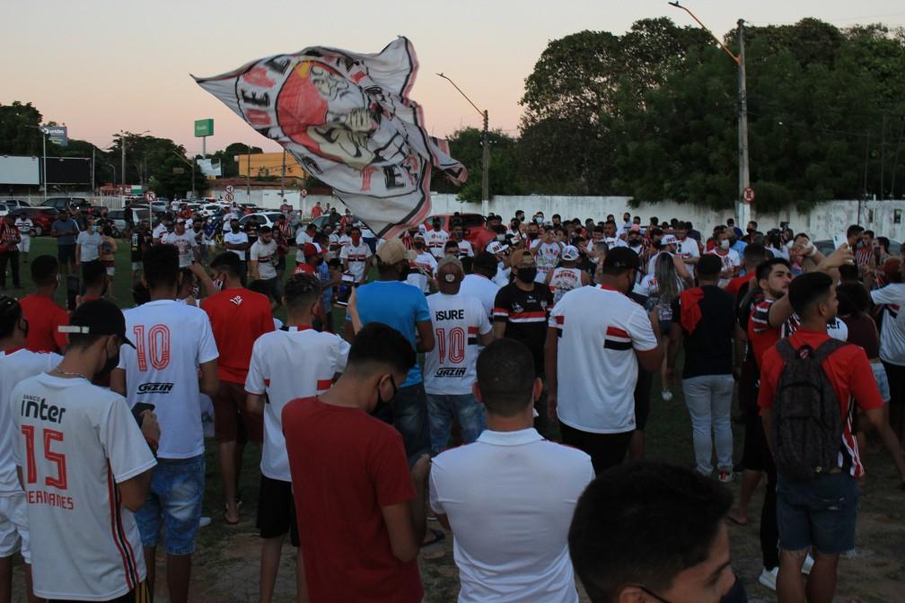 Desembarque do São Paulo, em Teresina — Foto: Arthur Ribeiro