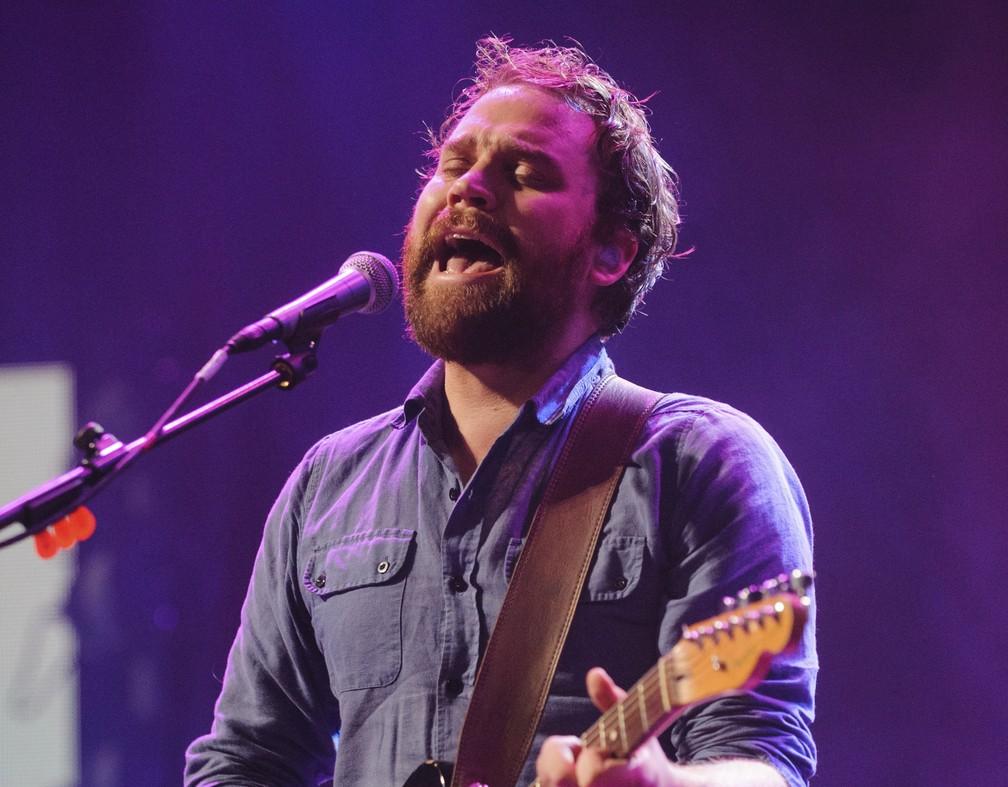 Scott Hutchison, vocalista do Frightened Rabbit (Foto: Associated Press)