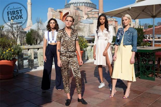 Naomi Scott, Kristen Stewart, Ella Balinska e Elizabeth Banks (Foto: Divulgação)