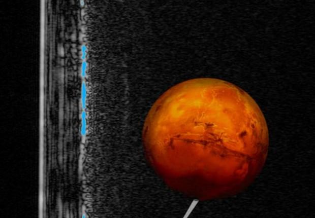 Astrônomos dizem que pode haver vida em Marte (Foto: USGS ASTROGEOLOGY SCIENCE CENTER via BBC)