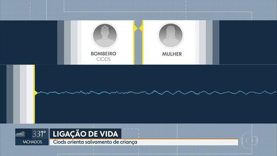 Áudio mostra como bombeiro ajudou a salvar criança após queda em piscina no Grande Recife