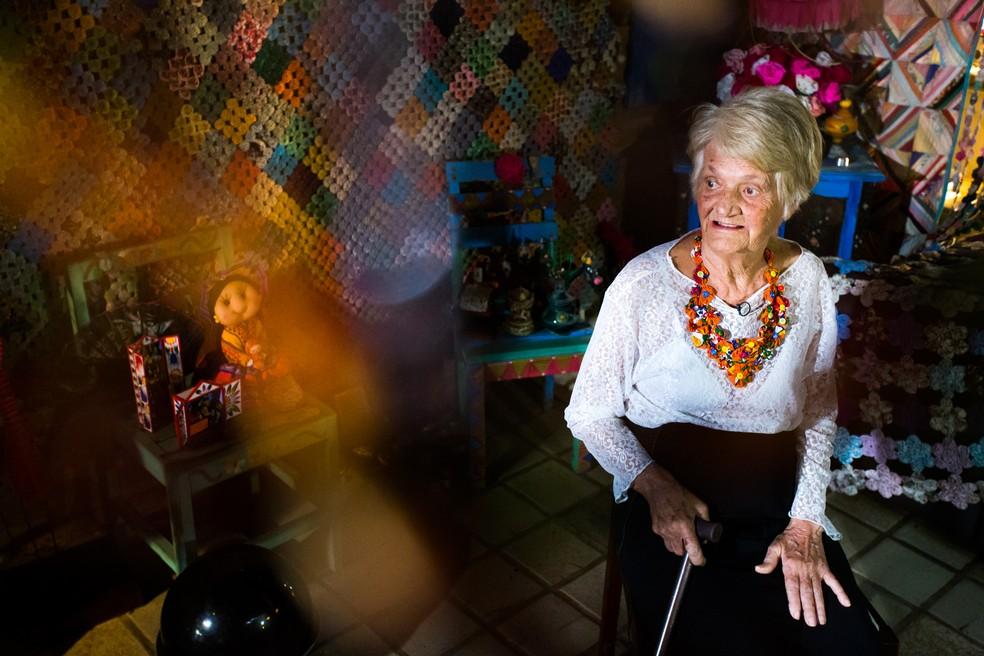 Edna Constan morreu aos 85 anos em Maceió  (Foto: Jonathan Lins/G1)