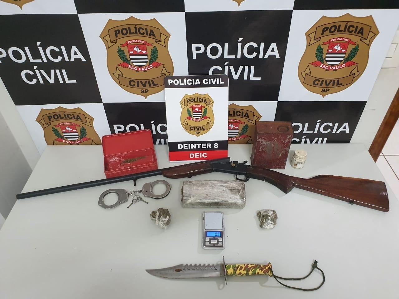 Homem é preso por tráfico de drogas a caminho de uma entrega de maconha em Presidente Prudente