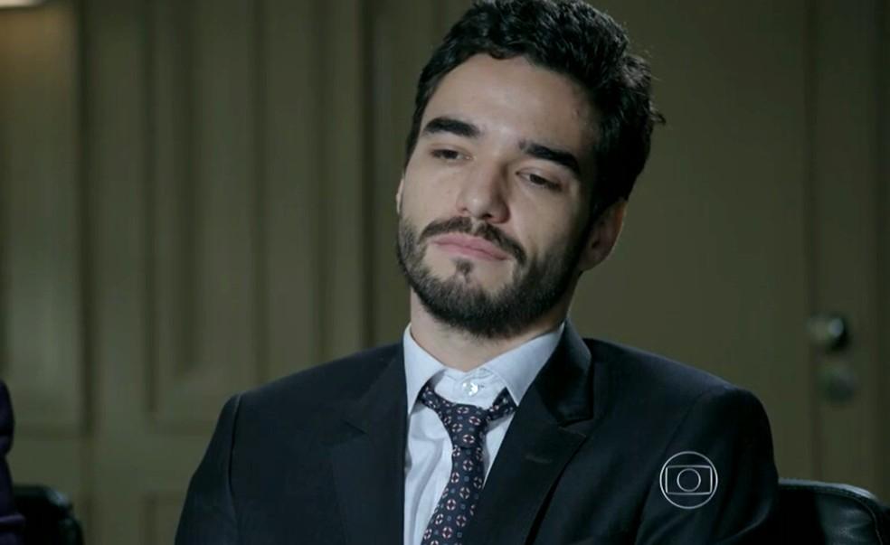 José Pedro (Caio Blat) pede demissão da Império — Foto: Globo