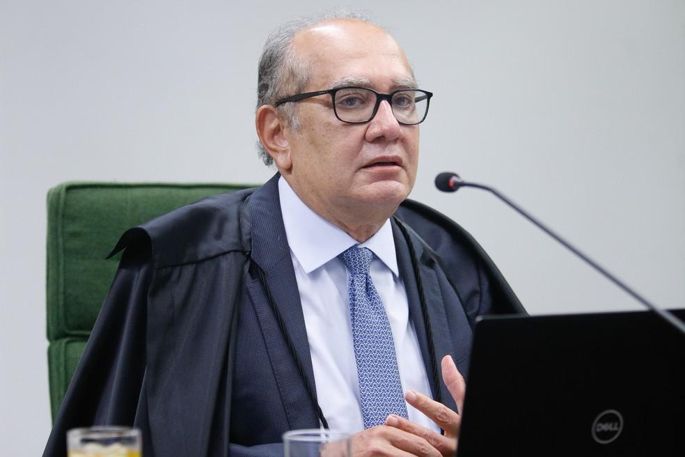 O ministro Gilmar Mendes durante sessão da 2ª turma do STF no dia 9 de março — Foto: Fellipe Sampaio/SCO/STF