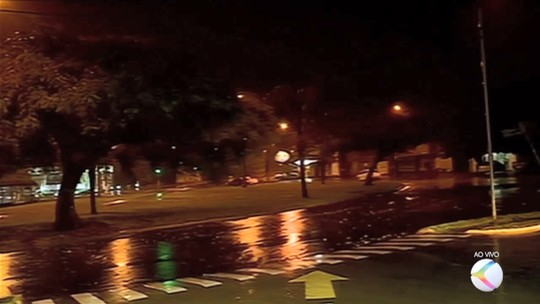 Chuva e ventos fortes derrubam árvores em Uberaba