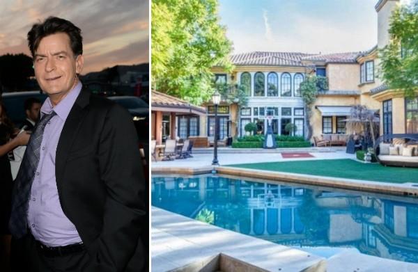 A mansão colocada à venda pelo ator Charlie Sheen (Foto: Getty Images/Divulgação)