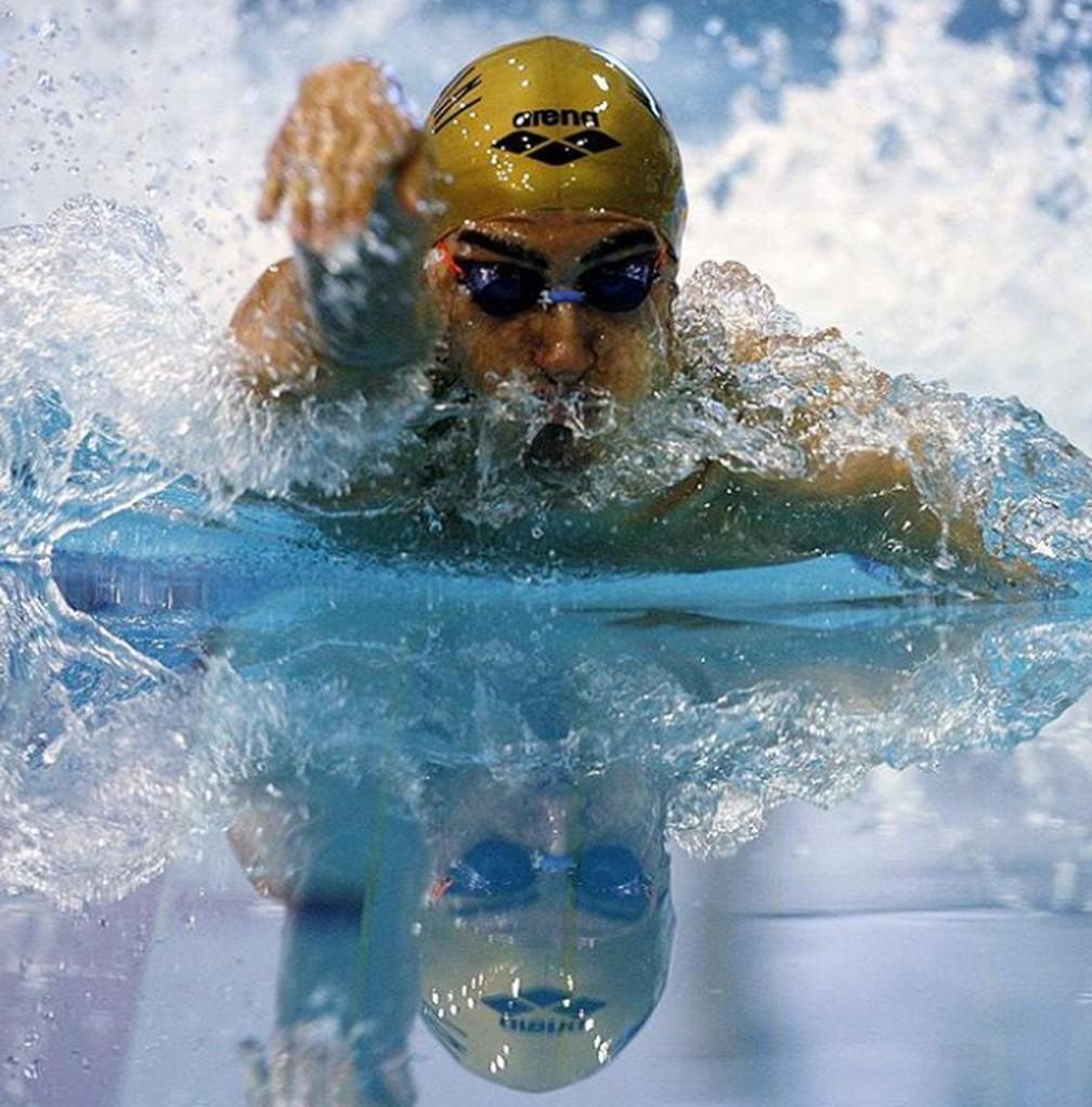 O nadador italiano integrou o time que ganhou medalha de bronze nos 4 x 200 metros livres da Olimpíada de Atenas, em 2004.   — Foto: Reprodução/Instagram