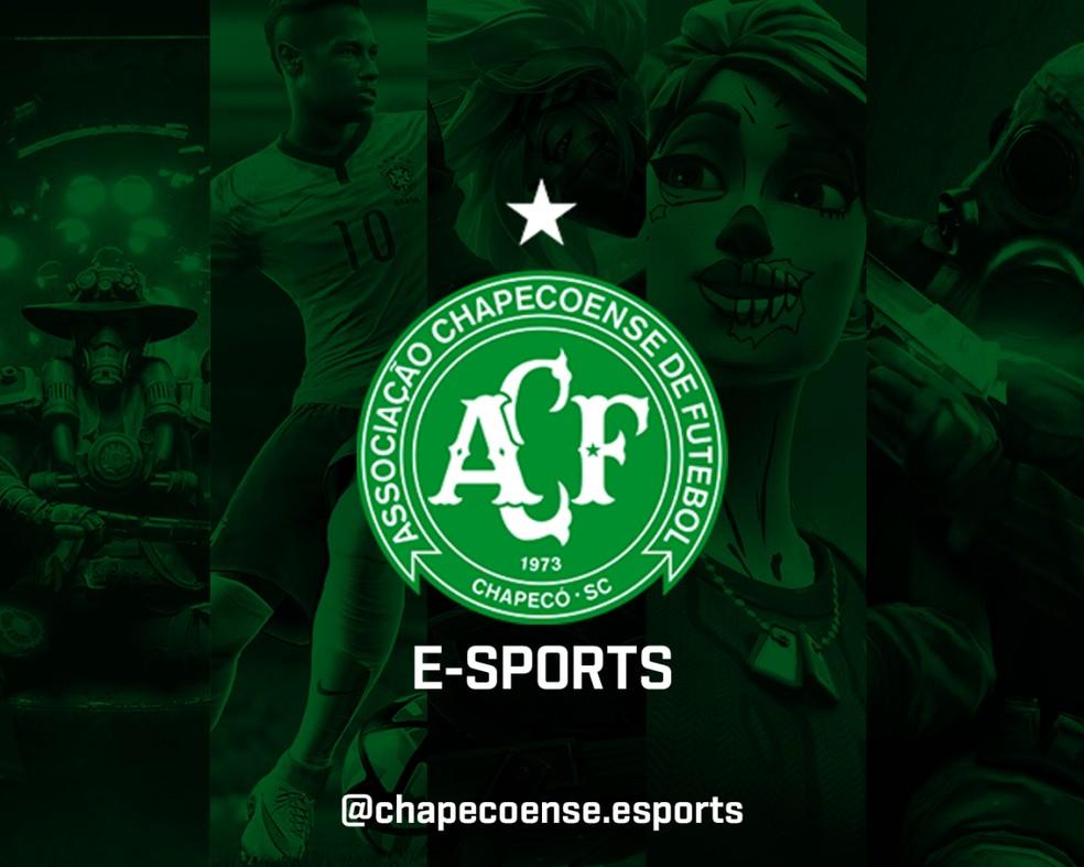 Chapecoense eSports foi apresentada em 2020 e neste ano vem ganhando força no cenário competitivo — Foto: Chapecoense/Divulgação