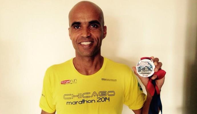 Elenílton Rangel, de Ribeirão Preto,é o terceiro melhor na Maratona de Chicago (Foto: Divulgação/Arquivo pessoal)