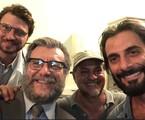 Alex Rech, Roberto Birindelli e Flávio Tolezani com o diretor Breno Silveira | Arquivo pessoal