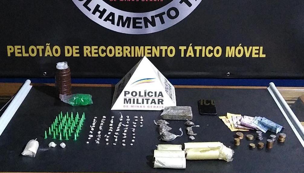 Suspeito de traficar drogas invade casas para fugir da polícia na Grande BH