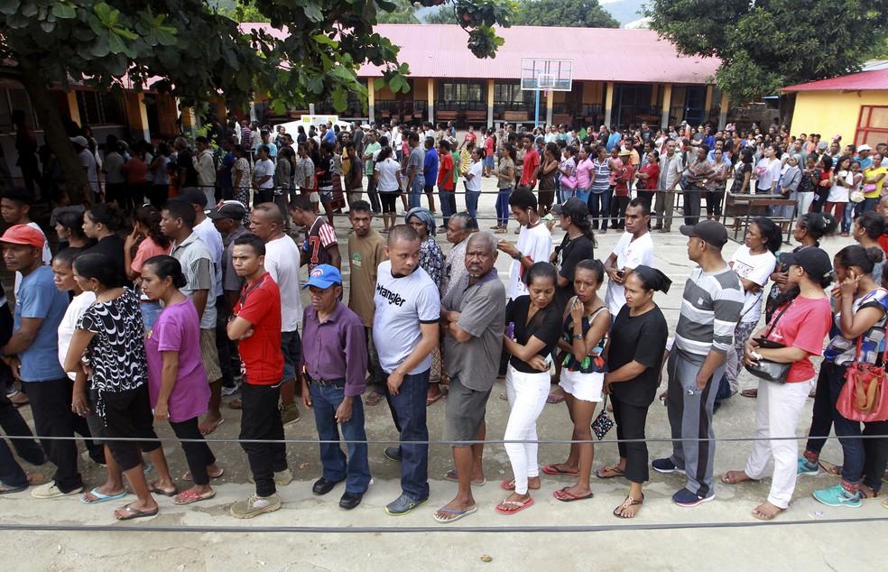 Resultado de imagem para Timor-Leste, voto do povo nas urnas