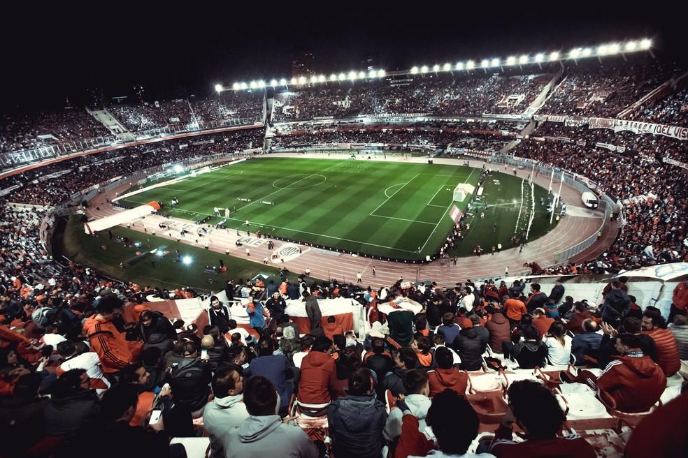 Monumental de Núñez em dia de River Plate e Boca Juniors — Foto: Divulgação/Conmebol