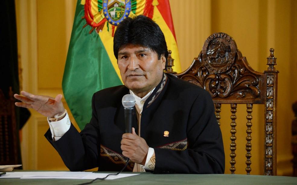 Morales é aliado próximo da Venezuela desde o governo de Hugo Chávez, defendeu a formação da Constituinte e disse que há um plano orquestrado nos EUA para derrubar Maduro (Foto: José Lirauze/Courtesy of Bolivian Presidency/Handout via Reuters)