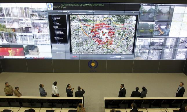 Centro Integrado de Comando e Controle (CICC) no Rio de Janeiro, inaugurado para a Copa das Confederações em 2013