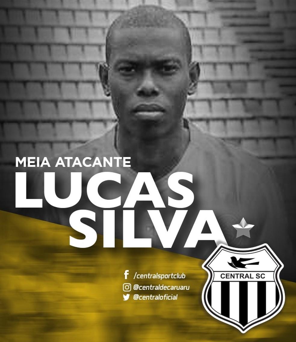 Jogador foi anunciado pelo Central (Foto: Divulgação / Central)