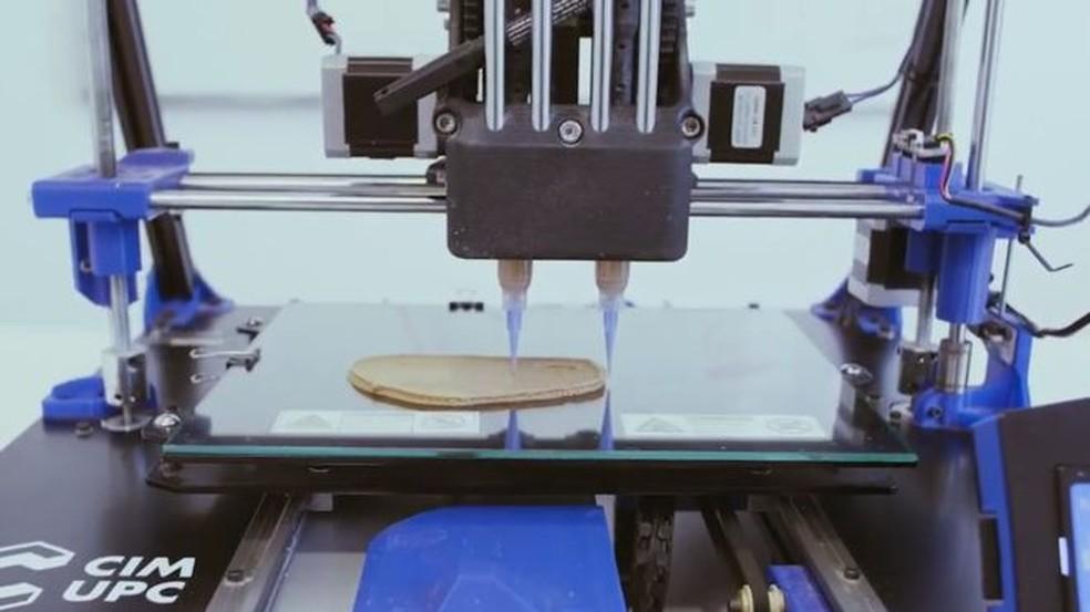 Empresa em Barcelona 'imprime' carne feita à base de vegetais — Foto: Nova Meat