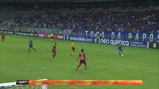 """No duelo de ídolos dos rivais mineiros, Thiago Neves bate Robinho e leva """"pintura"""""""