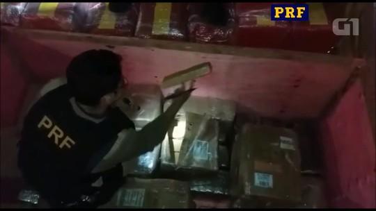 PRF apreende 2,5 toneladas de maconha em carga de peças para câmara frigorífica; vídeo