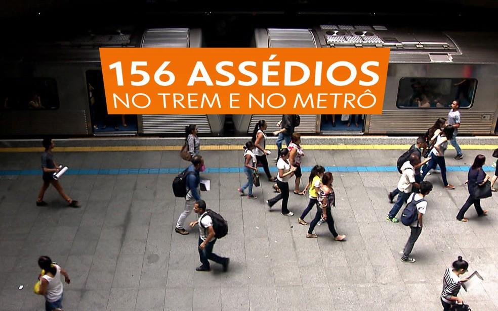 Metrô e CPTM registraram 156 casos de assédio sexual (Foto: TV Globo/Reprodução)