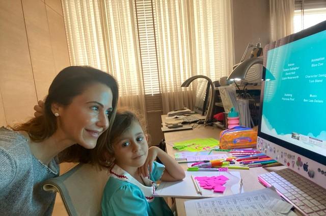Guilhermina Guinle com a filha, Mina (Foto: Arquivo pessoal)
