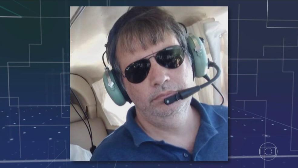Aeronave estava registrada em nome de Francisco Fabiano Gontijo — Foto: Reprodução/TV Globo