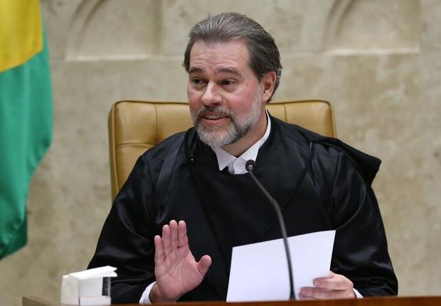 """""""Os sistemas são abertos para auditagem a todos os partidos políticos"""", ressaltou o ministro Dias Toffoli (Foto: Fabio Rodrigues Pozzebom/Agência Brasil)"""