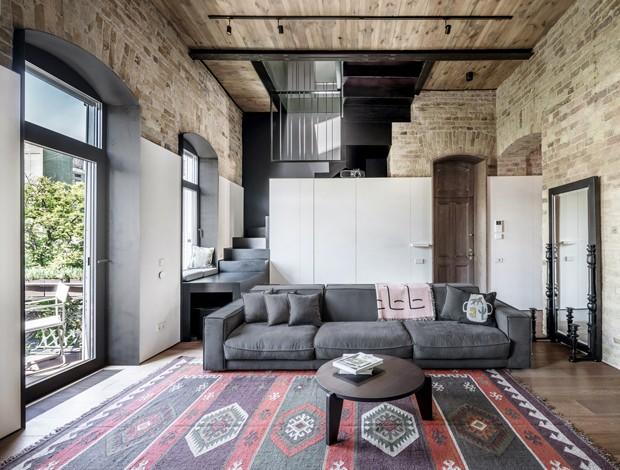 Décor do dia: sala de estar industrial e prática (Foto: Divulgação)