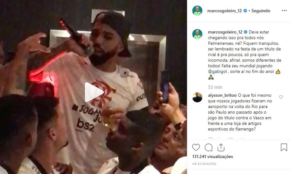 Marcos faz postagem em rede social — Foto: Reprodução