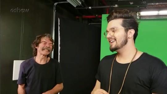 Luan Santana emociona Madruga, fã do cantor que trabalha no 'Altas Horas'