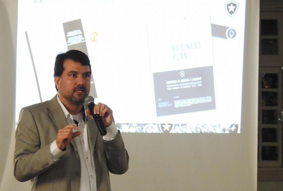 Laércio Paiva é um dos líderes do projeto da Botafogo S/A — Foto: Fred Gomes/GloboEsporte.com