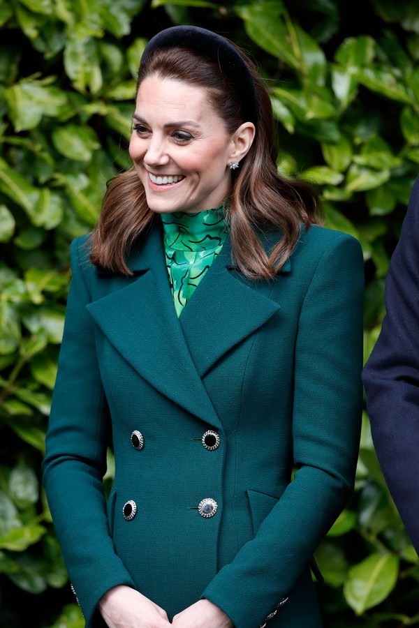 DUBLIN, IRELAND - MARCH 03: (EMBARGOED FOR PUBLICATION IN UK NEWSPAPERS UNTIL 24 HOURS AFTER CREATE DATE AND TIME) Catherine, Duchess of Cambridge visits The President of Ireland, Michael D. Higgins at Áras an Uachtaráin on March 3, 2020 in Dublin, Irelan (Foto: Getty Images)
