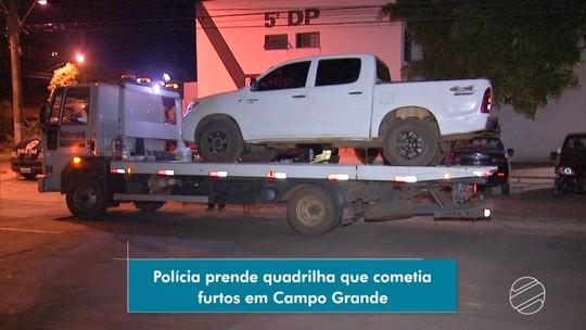 Choque prende três integrantes de grupo suspeito de usar camionete para furtos em Campo Grande