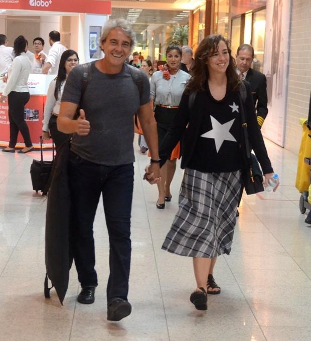 Alexandre Borges e Tatiana Coelho (Foto: Webert belicio / AgNews)