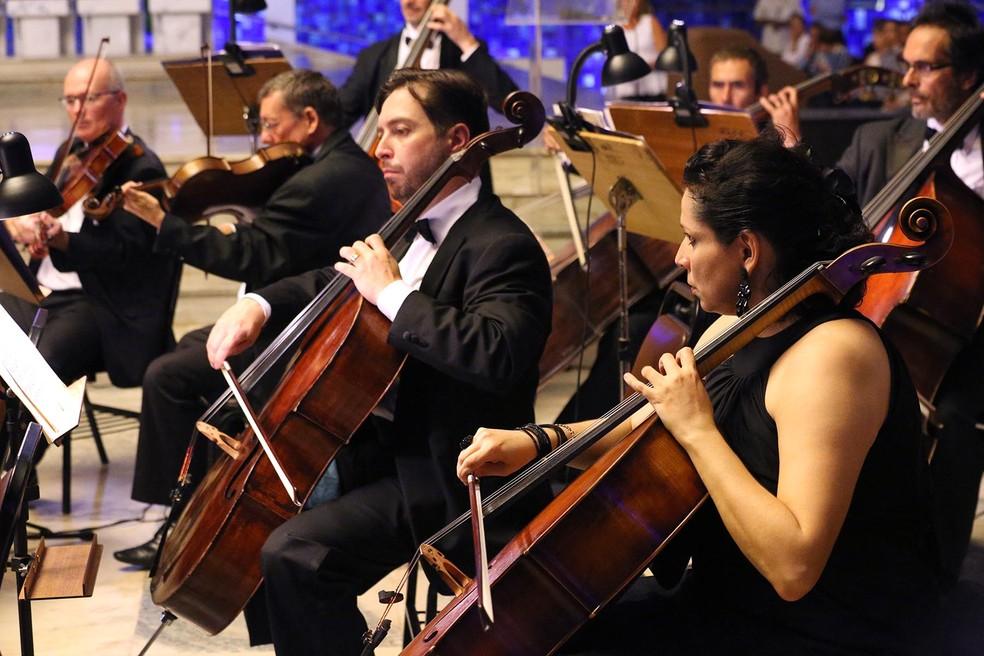 Integrantes da Orquestra Sinfônica do Teatro Nacional Claudio Santoro (Foto: Tony Winston/Agência Brasília)