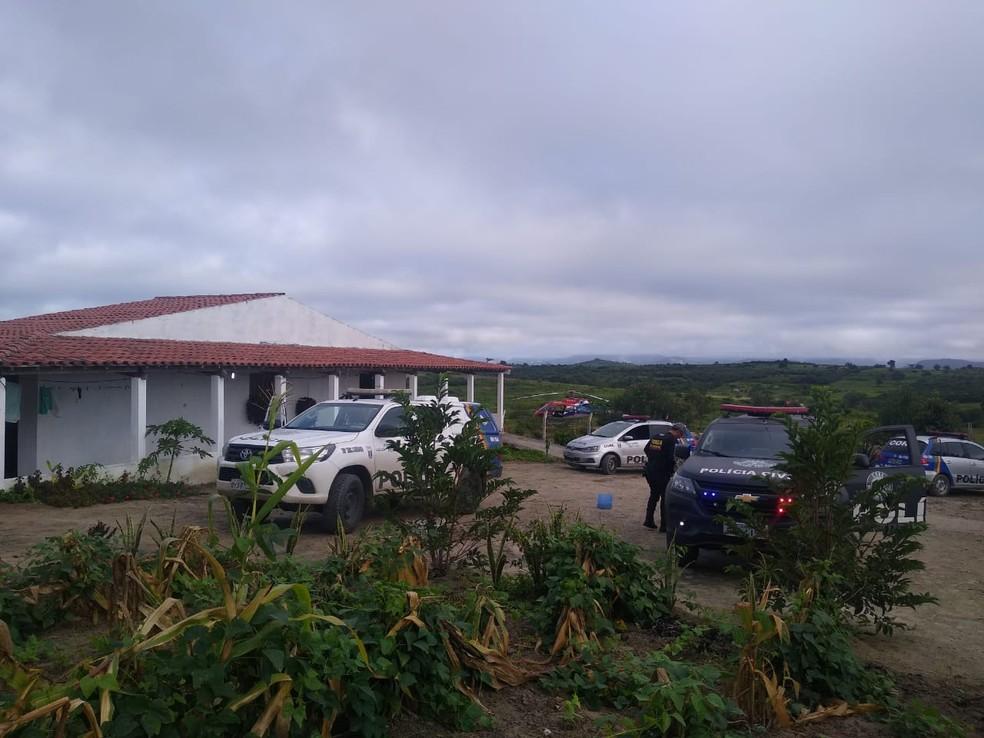 Operação 'Lança Gloriosa' é realizada em municípios do Agreste — Foto: Polícia Civil/Divulgação