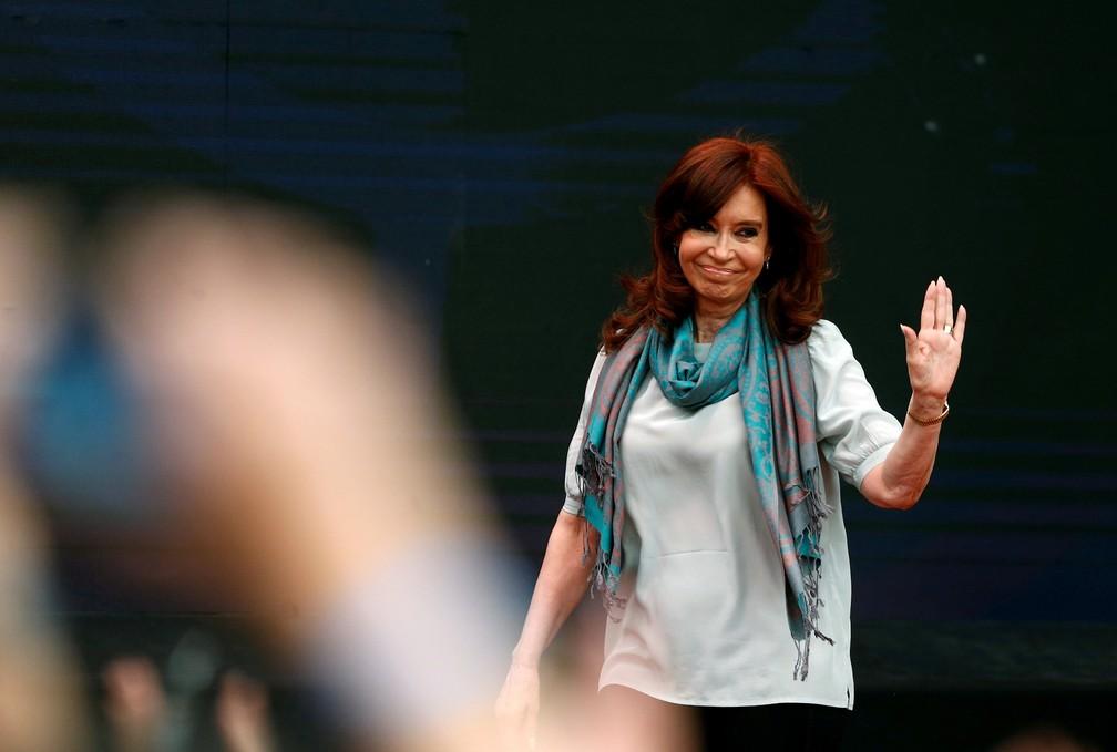 Cristina Kirchner em imagem de novembro de 2018, na Argetina — Foto: Martin Acosta/Arquivo/Reuters