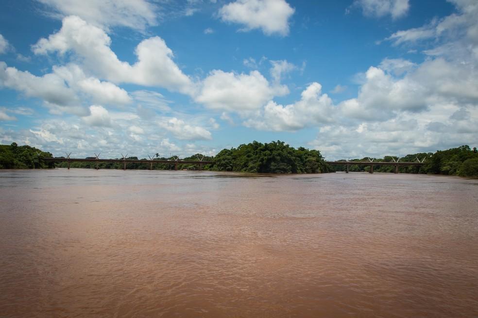 Ponte sobre o Rio Garça e Rio Araguaia (Foto: Andre Romeu/Vice-Governadoria)