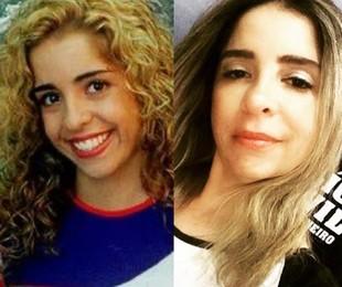 Mônica Areal na 'Malhação' e atualmente   TV Globo - Reprodução/Instagram