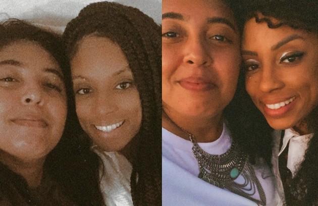 A DJ e psicóloga Lumena namora a cantora, compositora e percussionista Fernanda Maia. As duas já trocaram declarações de amor nas redes (Foto: Reprodução)