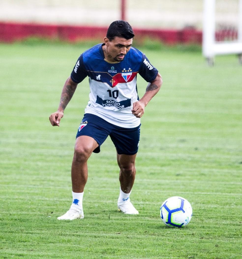 Kieza está emprestado pelo Botafogo ao Fortaleza — Foto: Thiago Gadelha