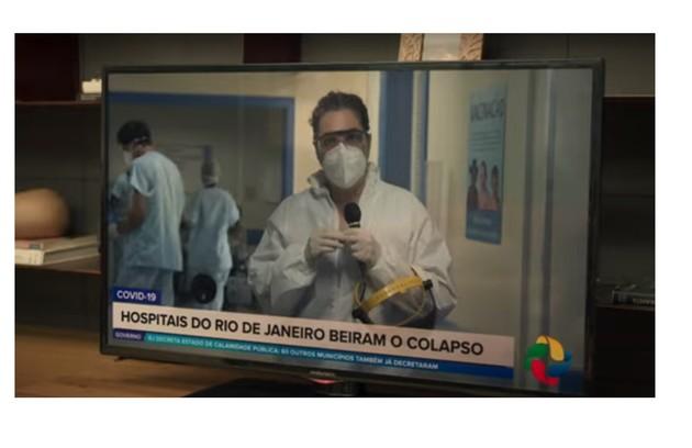 Diante do colapso na saúde, Betina resolverá voltar a trabalhar como enfermeira no hospital (Foto: Reprodução)